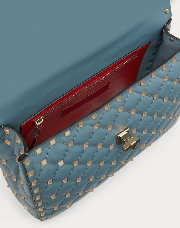 Mittelgroße Tasche Rockstud Spike aus Nappaleder