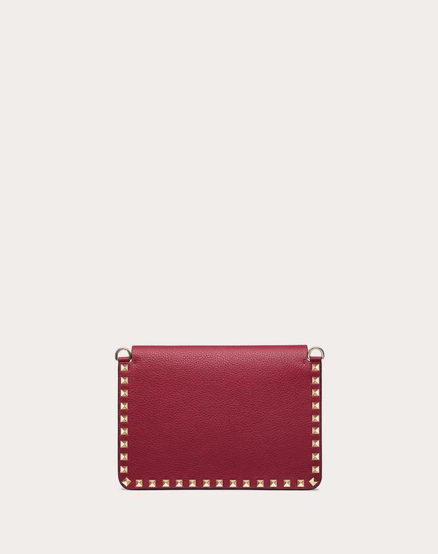 Small Rockstud Grainy Leather Crossbody Bag