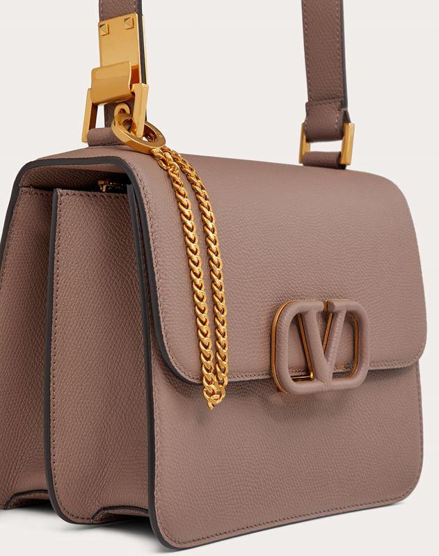 VSLING Grainy Calfskin Shoulder Bag