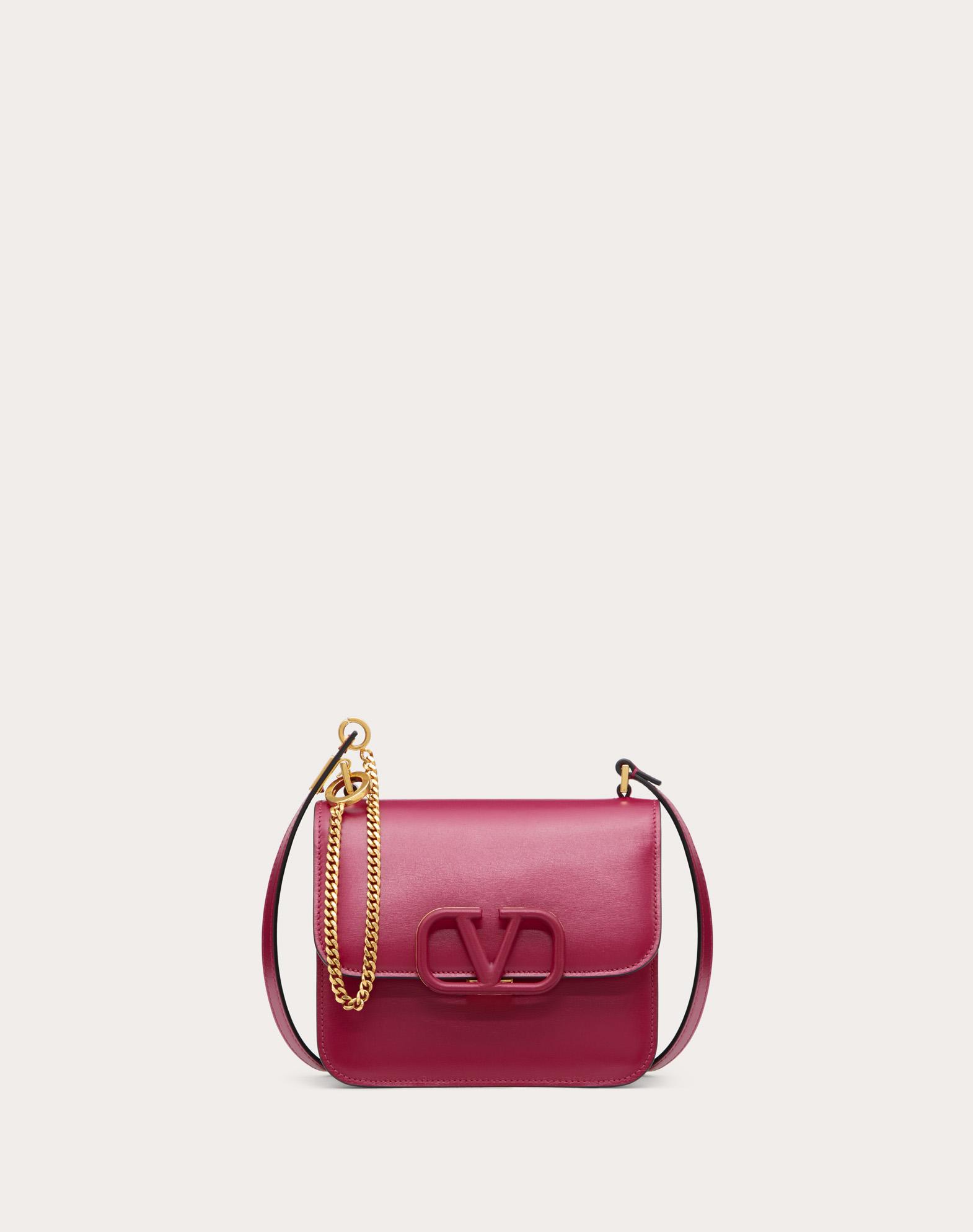 Small VSLING Shiny Calfskin Shoulder Bag