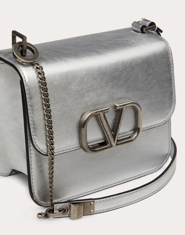 Small VSLING Metallic Calfskin Shoulder Bag