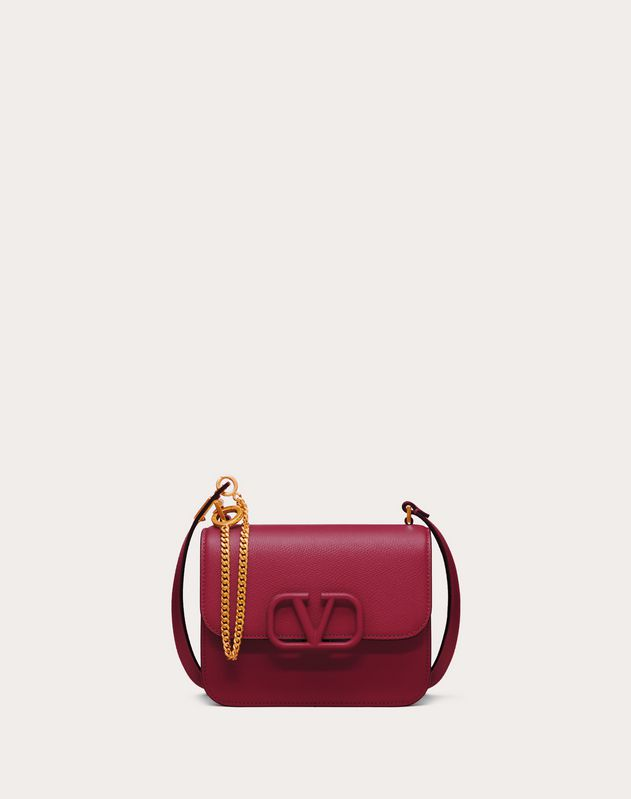 Small VSLING Grainy Calfskin Shoulder Bag