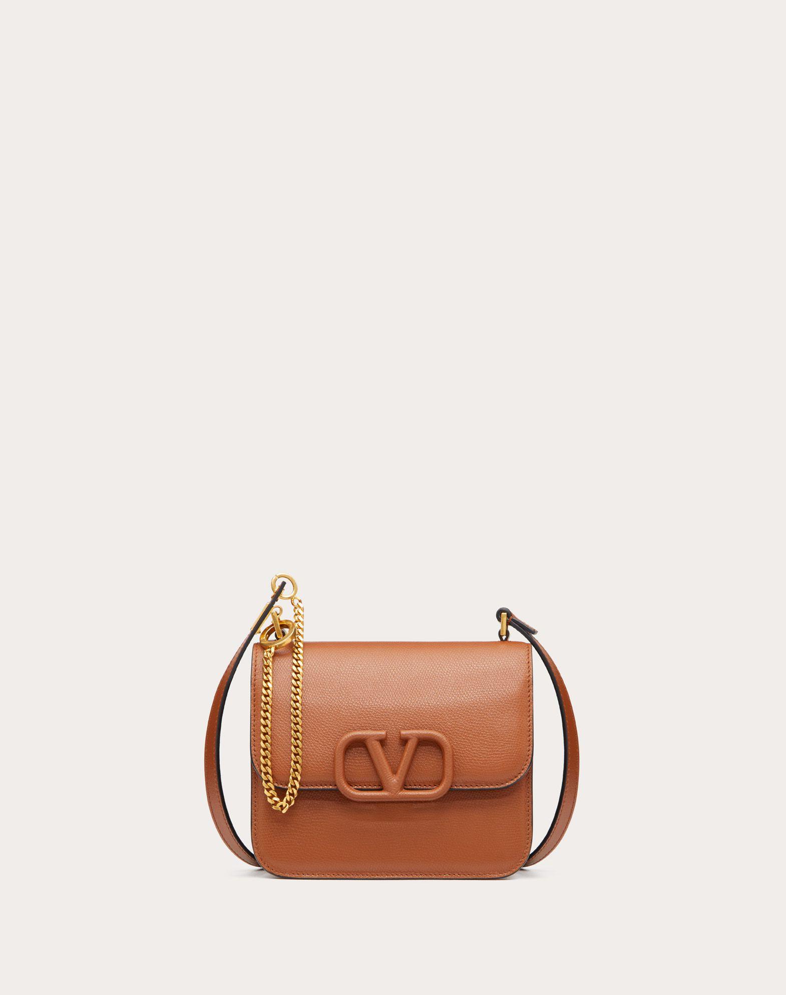 Small VSLING Grainy Calfskin Shoulder Bag