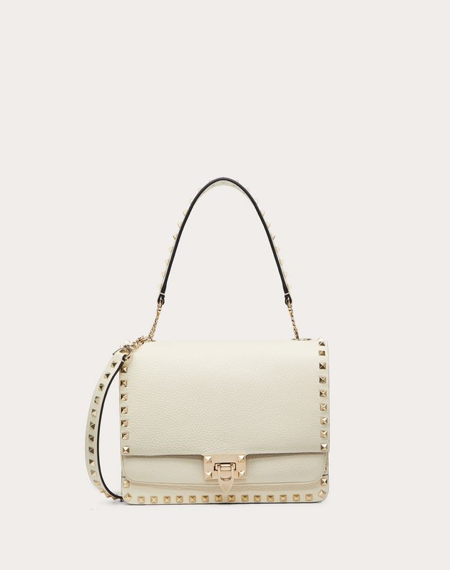 Rockstud Grainy Calfskin Crossbody Bag
