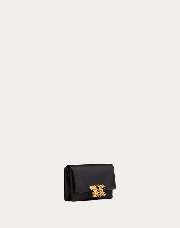 Petit sac à bandoulière en veau finition nappa avec accessoire Griffons