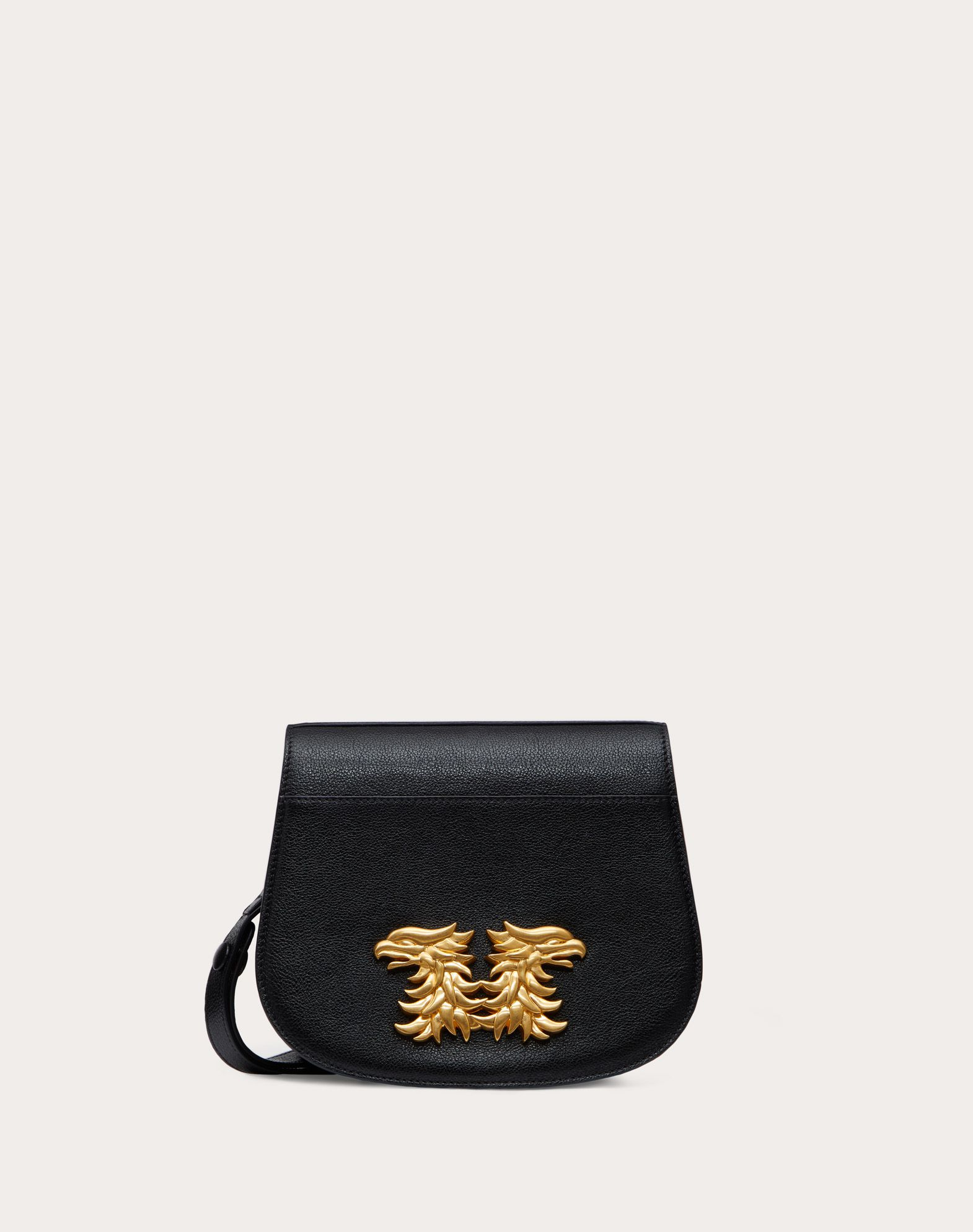 Buffalo Leather Saddle Bag with Griffin Accessory