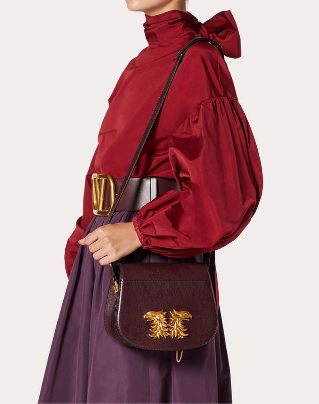 Borsa Saddle in Bufalo con Accessorio Grifoni