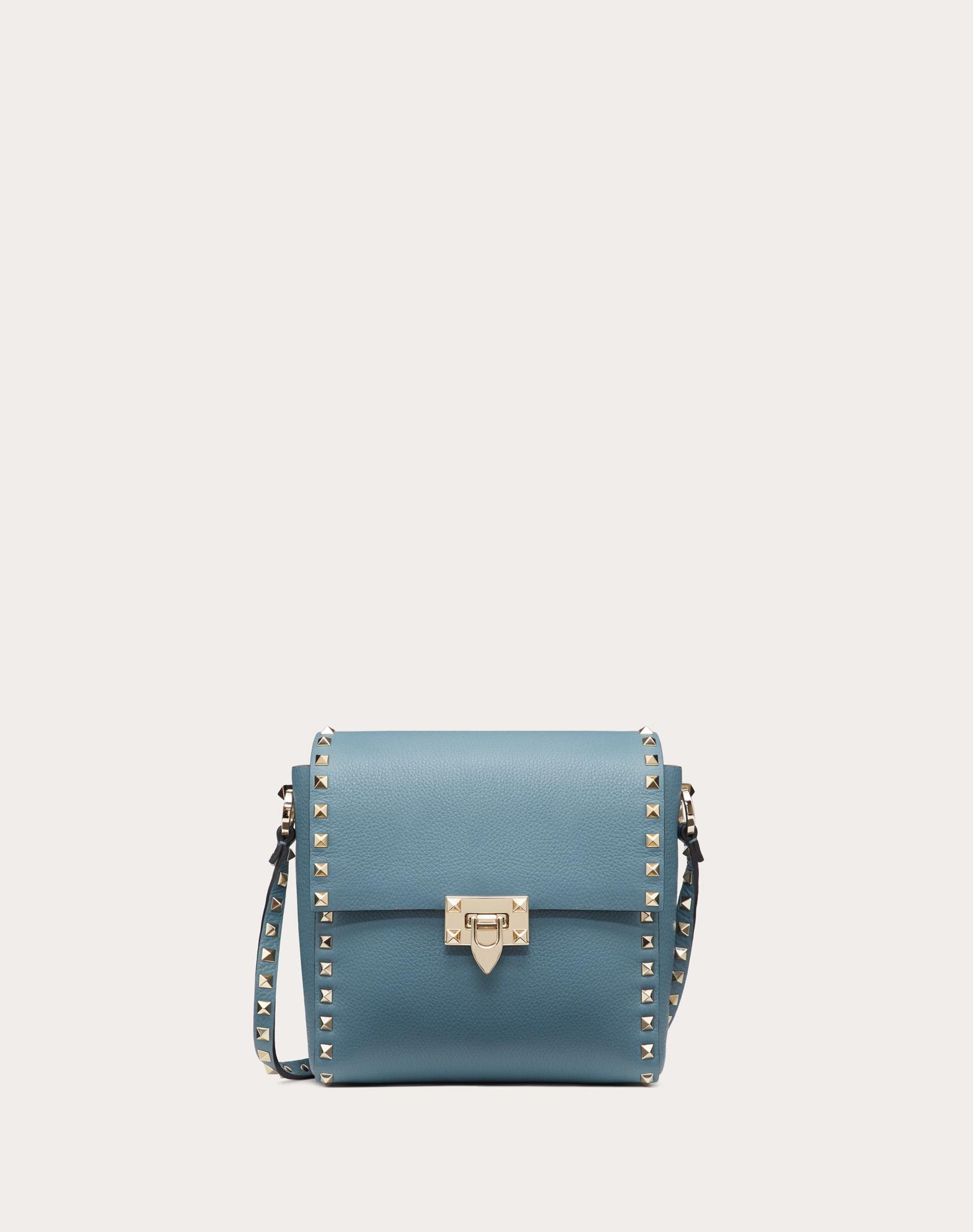 Rockstud Grainy Calfskin Vertical Bag