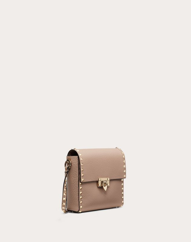 Rockstud Grainy Calfskin Vertical Bag