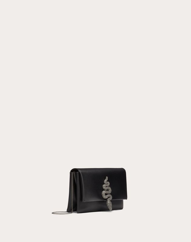 Small Crossbody Bag in Nappa Calfskin with Serpent Accessory