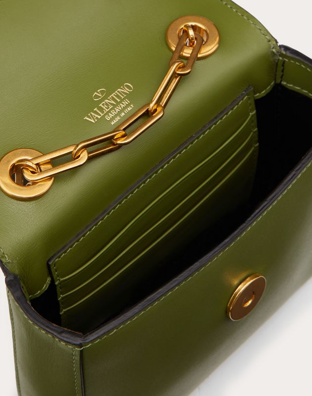 Borsa Mini a Tracolla In Vitello Lucido con Accessorio Grifoni