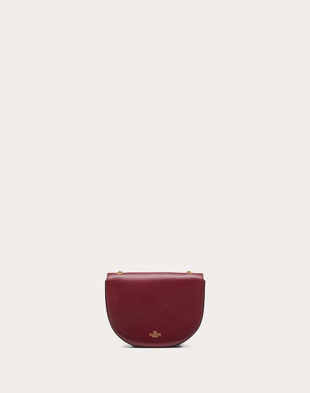 Mini Saddle Bag in Glossy Calfskin with Griffin Accessory
