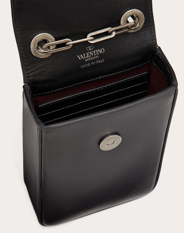 Mini Vertical Bag in Glossy Calfskin with Serpent Accessory