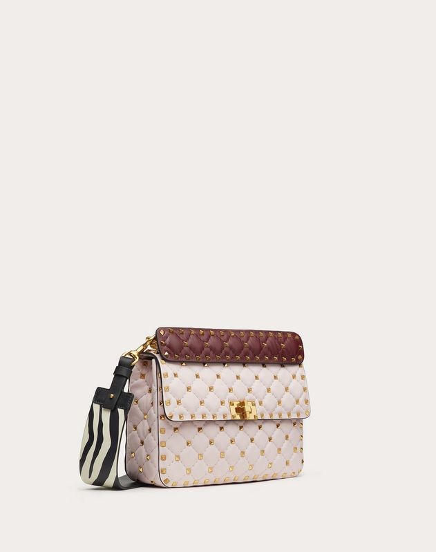 Medium Rockstud Spike.It Nappa Bag with Zebra Print Strap