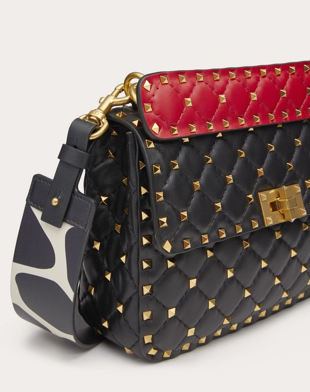 Medium Rockstud Spike.It Nappa Bag with Giraffe Print Strap