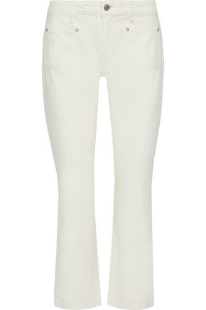 CURRENT/ELLIOTT The Cropped Boot mid-rise bootcut jeans
