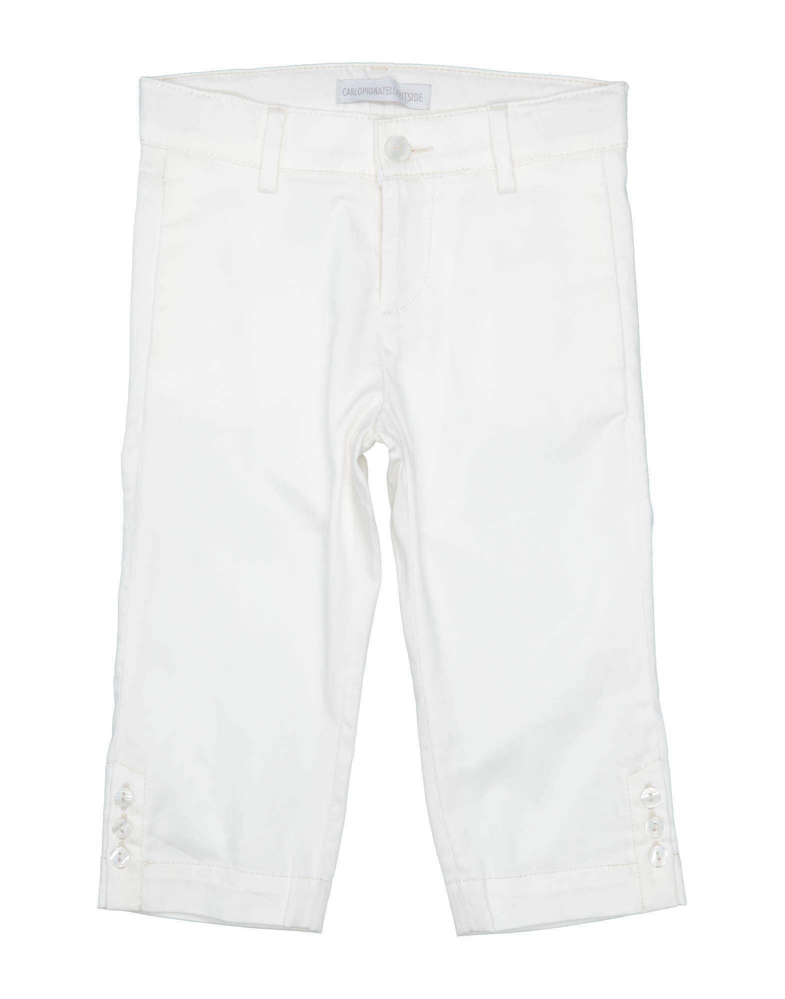 Carlo Pignatelli Outside Kids' Casual Pants In White