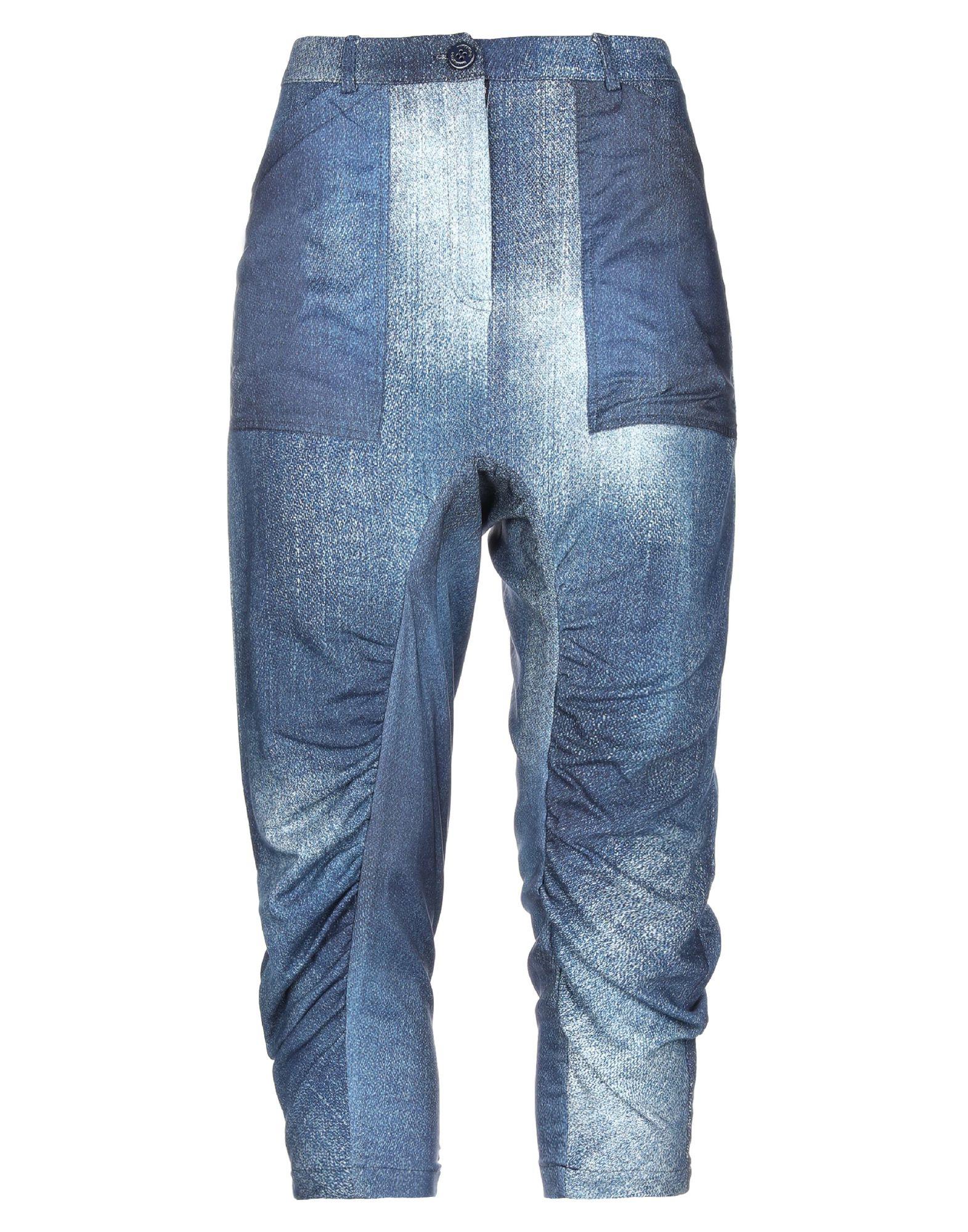 《セール開催中》PIANURASTUDIO レディース パンツ ブルー 42 コットン 100%