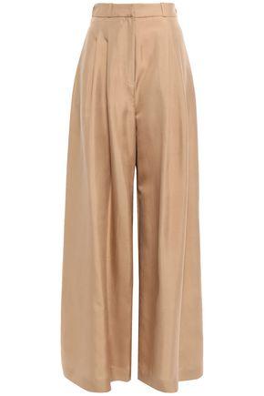 ZIMMERMANN Pleated silk wide-leg pants