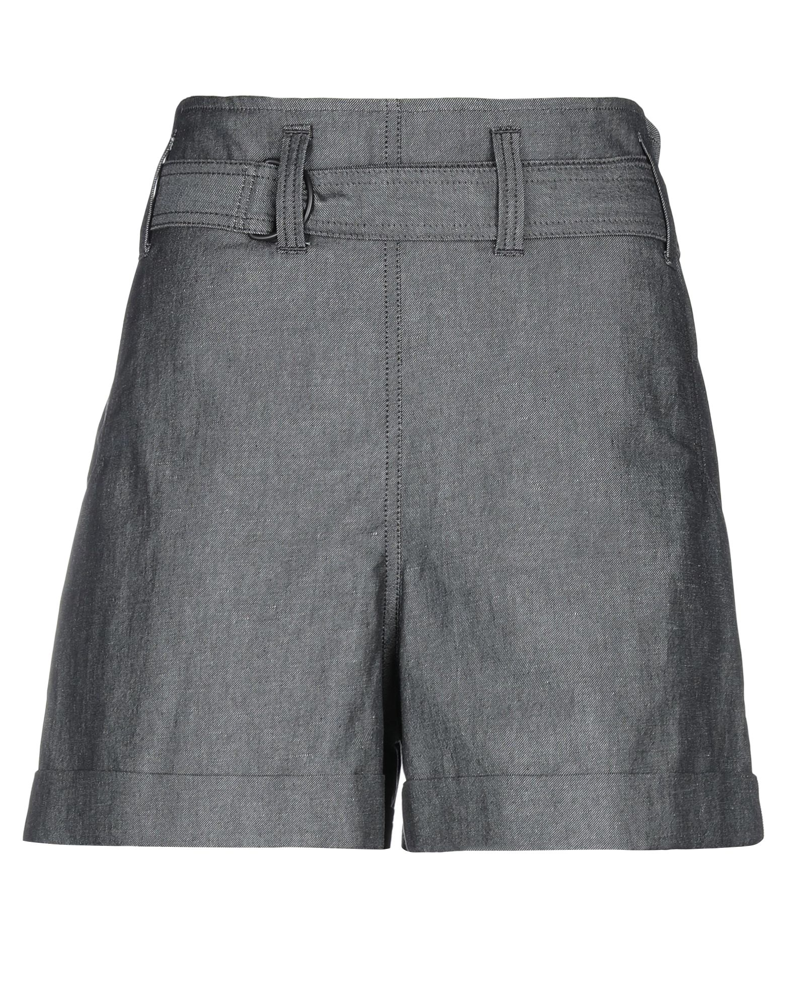 BRUNELLO CUCINELLI Shorts. plain weave, belt, side seam stripes, solid color, high waisted, regular fit, multipockets. 71% Cotton, 29% Flax