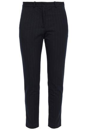 JOSEPH New Eliston cropped pinstriped stretch-gabardine slim-leg pants