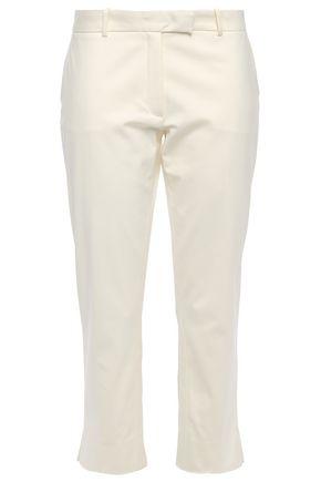 JOSEPH Bing Court cropped cotton-blend slim-leg pants