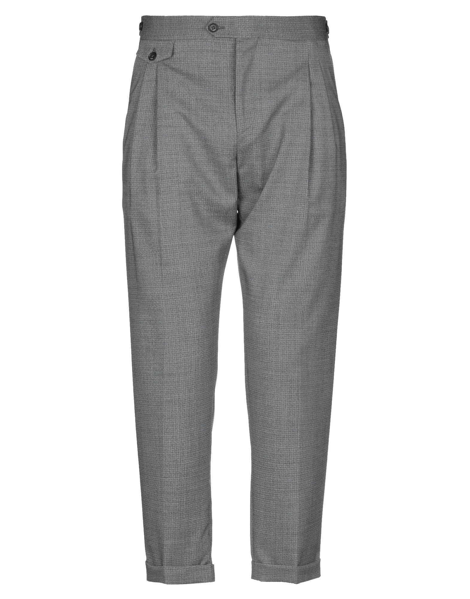 《セール開催中》BE ABLE メンズ パンツ グレー 35 バージンウール 100%
