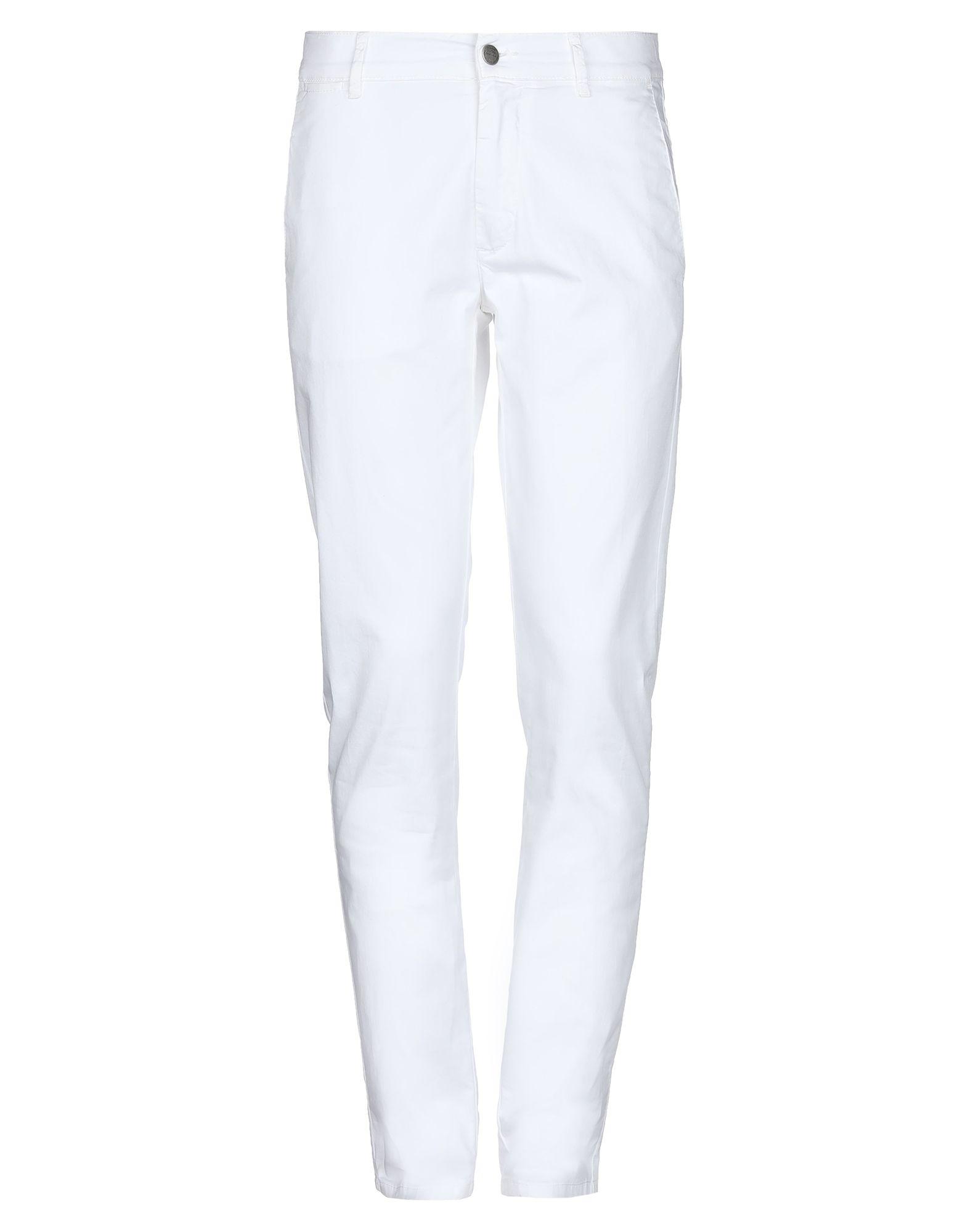 《セール開催中》DANIELE ALESSANDRINI HOMME メンズ パンツ ホワイト 32 コットン 97% / ポリウレタン 3%