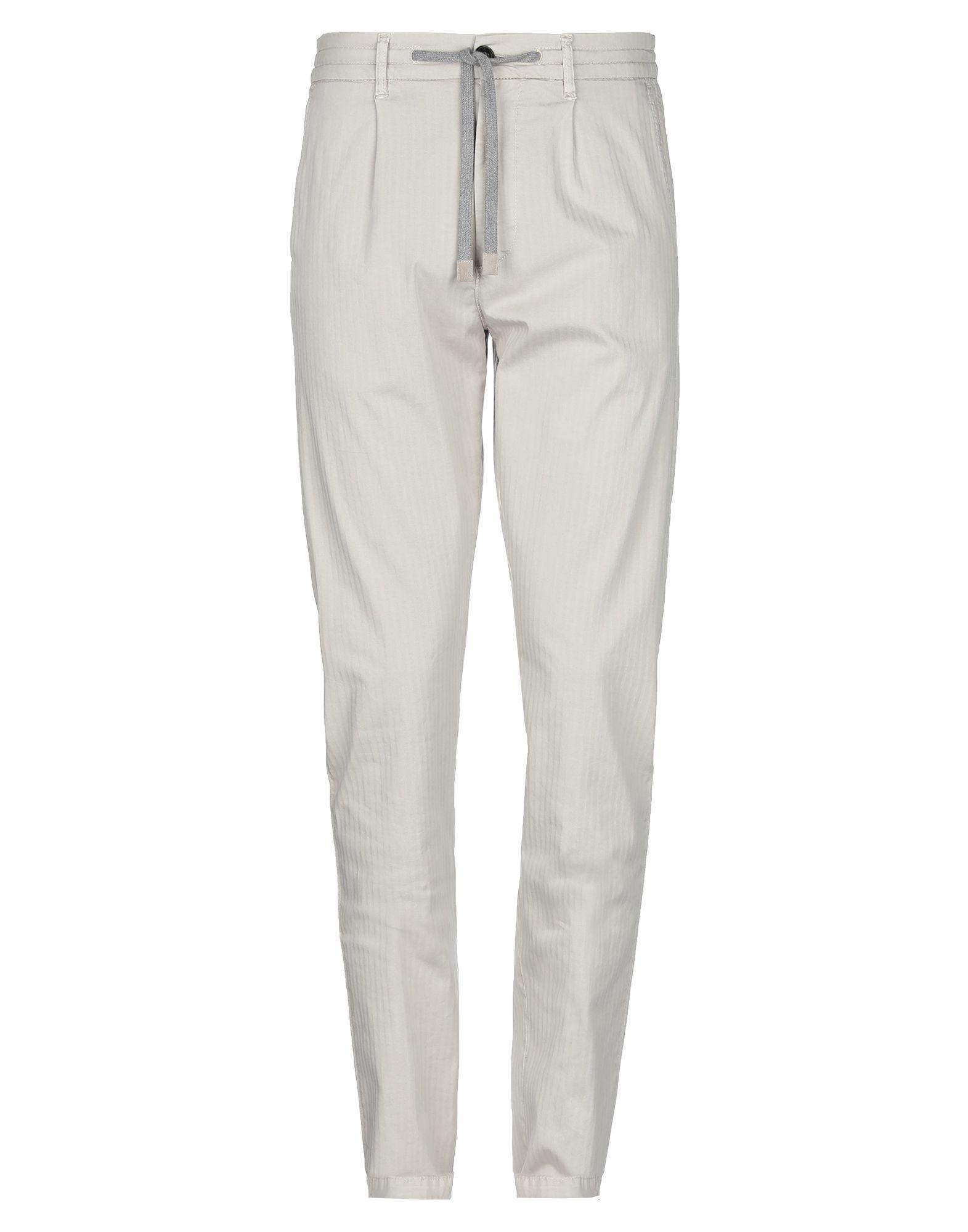 ELEVENTY Casual pants. plain weave, laces, herringbone, mid rise, regular fit, straight leg, button, zip, multipockets, stretch. 98% Cotton, 2% Elastane