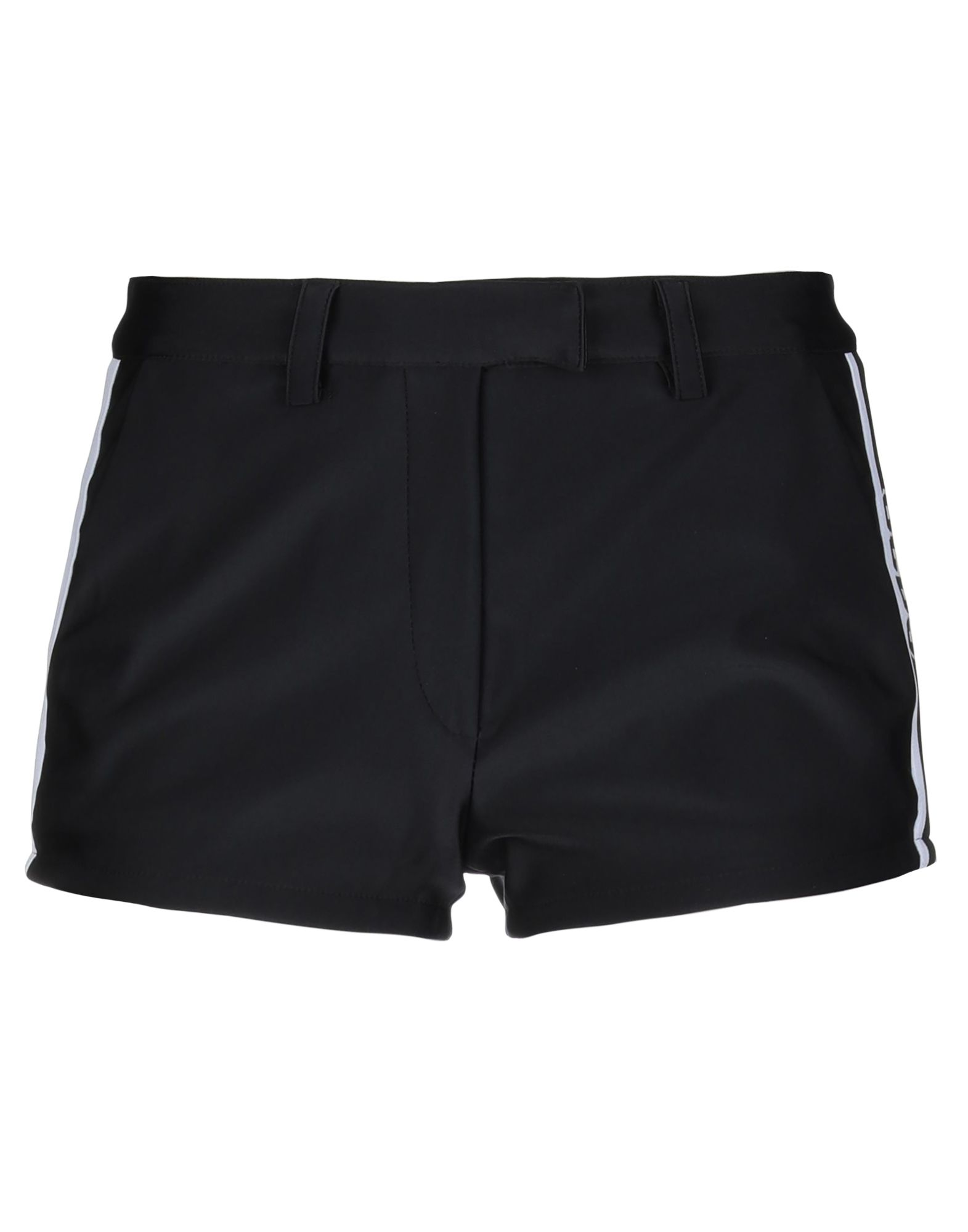 GCDS Shorts. jersey, logo, solid color, low waisted, hook-and-bar, zip, multipockets, stretch. 46% Polyester, 40% Polyamide, 10% Elastane, 4% Polyurethane