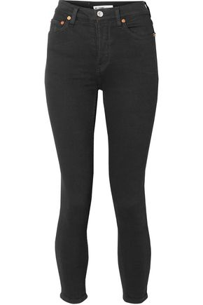 RE/DONE Originals Ultra Stretch High-Rise Ankle Crop skinny jeans