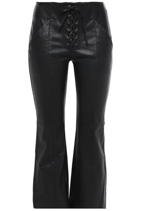 A.L.C. Leather kick-flare pants