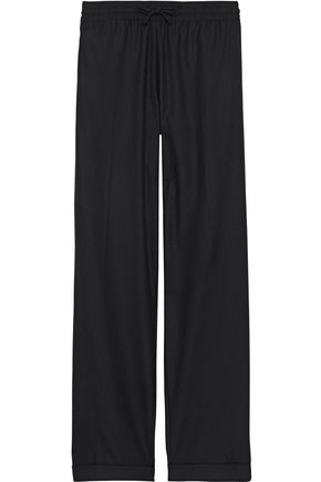 VALENTINO Wool and cashmere-blend twill wide-leg pants