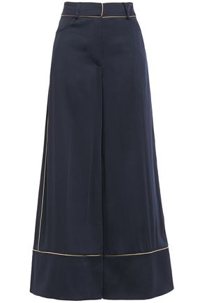 PETER PILOTTO Cropped satin-crepe wide-leg pants