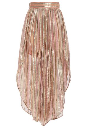 PETER PILOTTO Metallic striped silk-blend voile culottes