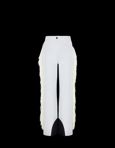 CASUAL TROUSER White 3 Moncler Grenoble Woman