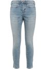 CURRENT/ELLIOTT The Braided Caballo cropped mid-rise skinny jeans