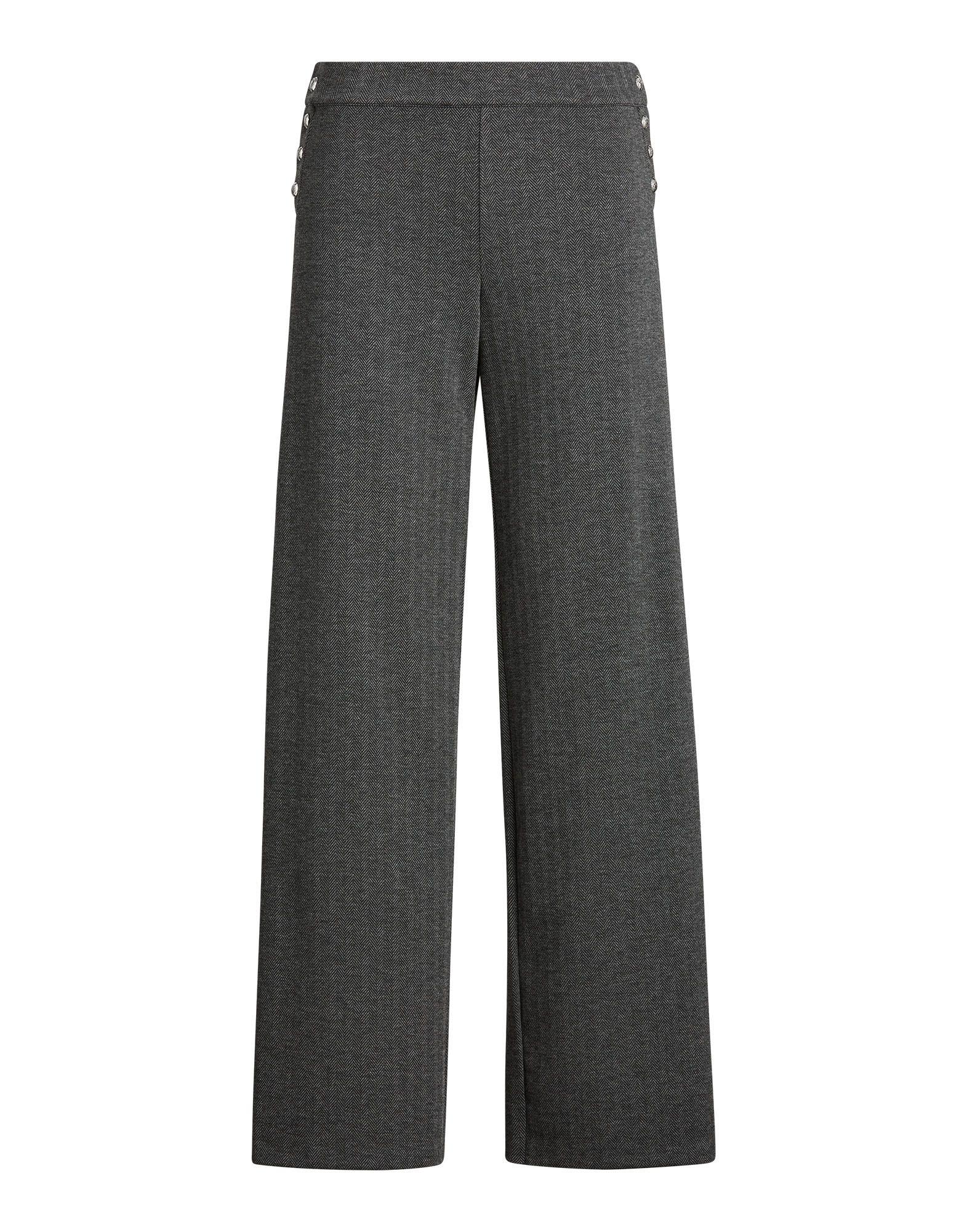 《セール開催中》LAUREN RALPH LAUREN レディース パンツ グレー L ポリエステル 73% / レーヨン 26% / ポリウレタン 1% TWILL JACQUARD STRAIGHT LEG PANT