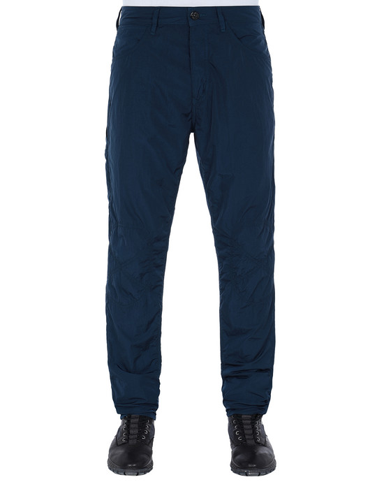STONE ISLAND J03J2 NYLON TELA-TC RE-T PANTS - 5 POCKETS Man Marine Blue