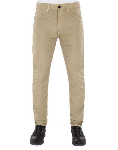 STONE ISLAND J01J2 NYLON TELA-TC SL PANTS - 5 POCKETS Man Dark Beige EUR 166