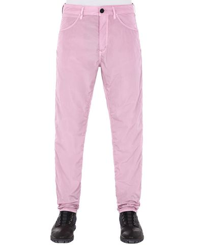 STONE ISLAND J02J2 NYLON TELA-TC TROUSERS - 5 POCKETS Man Pink Quartz EUR 217