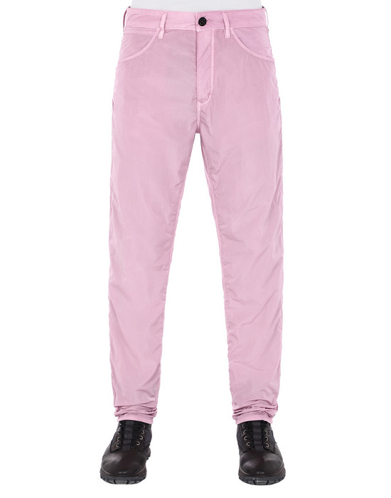 STONE ISLAND J02J2 NYLON TELA-TC PANTS - 5 POCKETS Man Pink Quartz