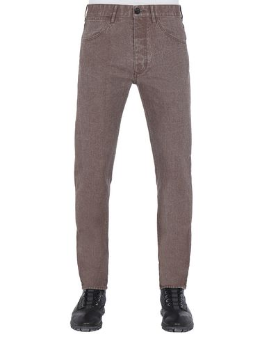 STONE ISLAND J01J1 PANAMA PLACCATO SL Pants Man Dark Brown USD 197