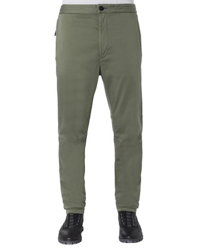 STONE ISLAND 30909 Pants Man Olive Green USD 224