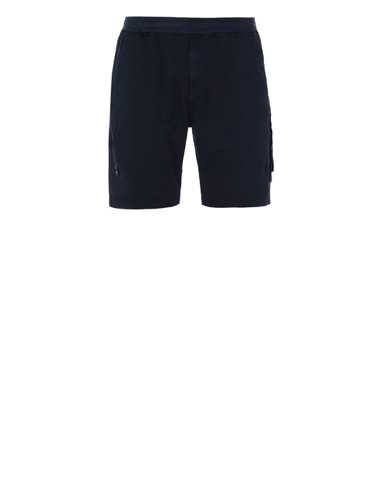 STONE ISLAND 650F3 GHOST PIECE FLEECE BERMUDA SHORTS Man Blue