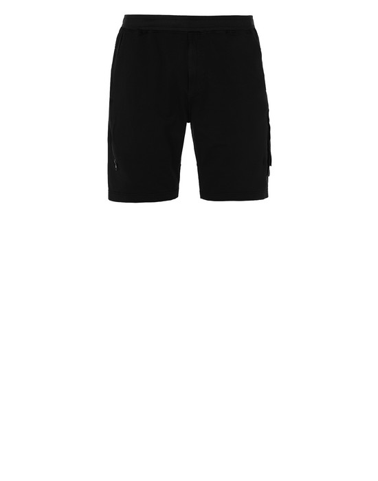 STONE ISLAND 650F3 GHOST PIECE FLEECE BERMUDA SHORTS Man Black