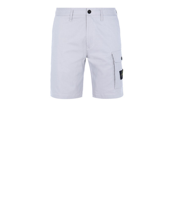 STONE ISLAND L1214 Bermuda shorts Man Dust Grey