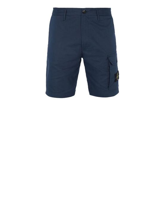STONE ISLAND L1214 Bermuda shorts Man Marine Blue
