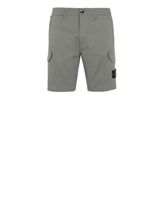 STONE ISLAND L0405 Bermuda shorts Man Olive Green