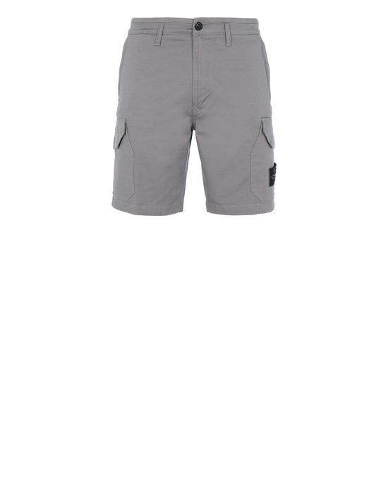 STONE ISLAND L0405 Bermuda shorts Man Blue Grey